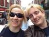 Minä ja Axel turistibussissa Dublinissa (2012)
